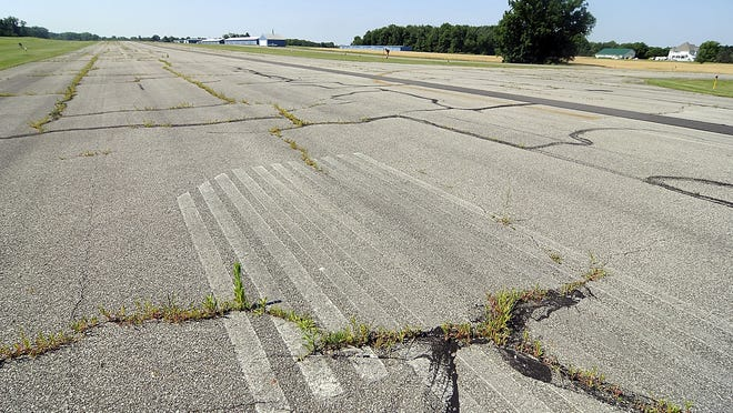 The Ashland County Airport will be repairing and sealing cracks in the runway and repainting the markings with federal grant money the airport is receiving.