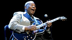 Blues artist B.B. King performs at the Grand Sierra