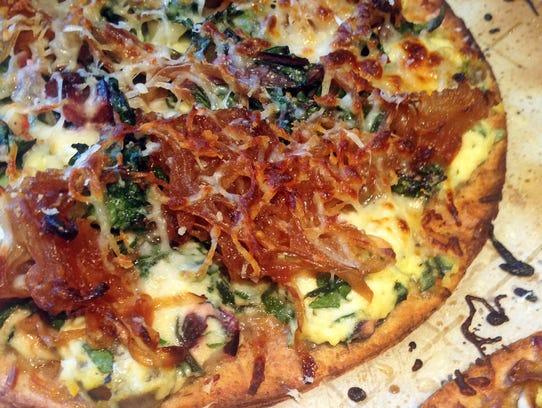 Flatbread with Caramelized Onion, Lemon Ricotta and