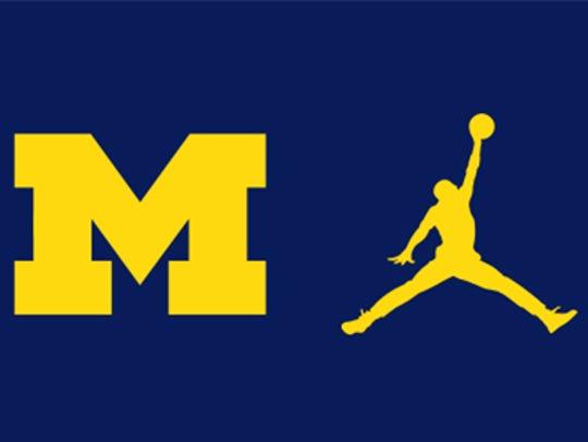 The Jordan Jumpman logo will appear on Michigan's football