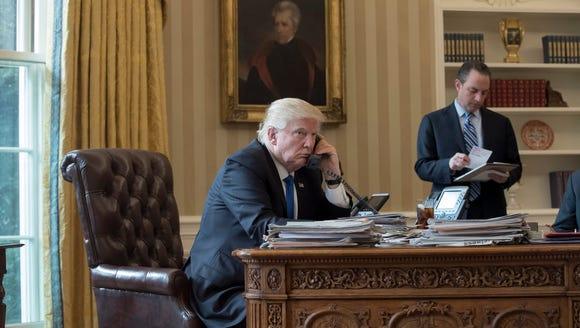 Trump speaks on the phone with Russian President Vladimir