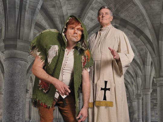 "From left, Will North and Greg North star in the 5-Star Theatricals production of ""The Hunchback of Notre Dame,"" on stage at the Thousand Oaks Civic Arts Plaza through April 29."