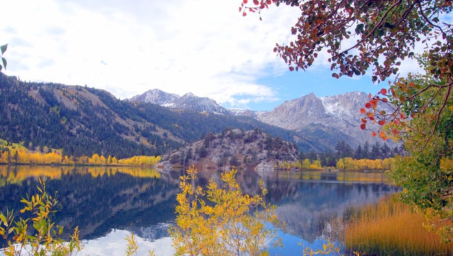 Gull Lake, south of Lee Vining, Calif., is among the countless places in the Eastern Sierra for amazing fall color.