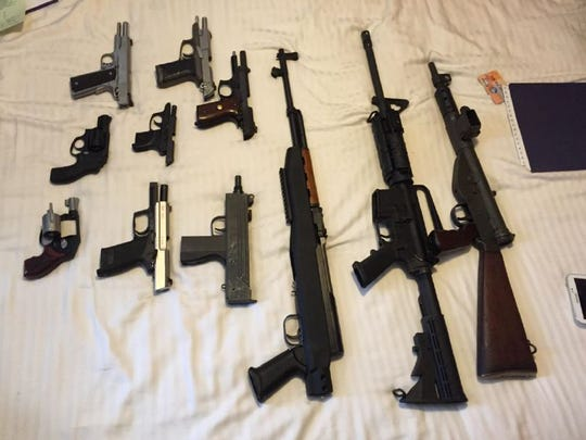 DEA agents served a search warrant at the home of Wayne Wallace Jr. and seized 11 firearms.