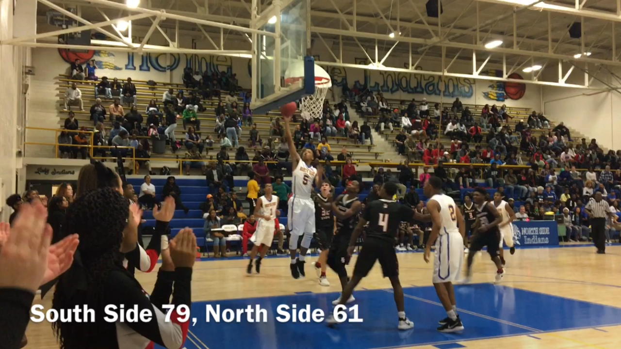 Highlights from South Side's 79-61 win over North Side on Jan. 11, 2018.
