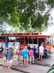 The Cape Coral trolley event, put on once a month by