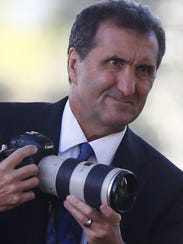 Official White House photographer Pete Souza works