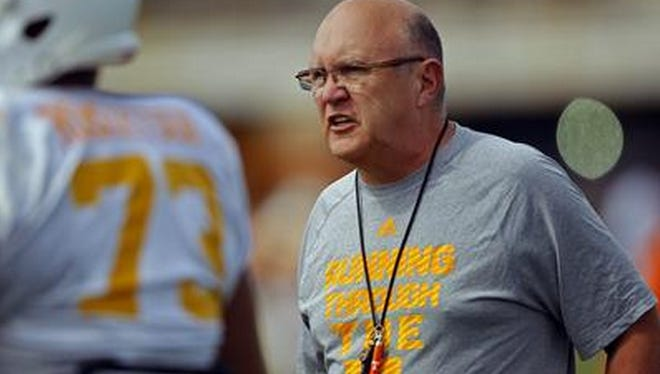 Mike DeBord enters his first year as Tennessee offensive coordinator.