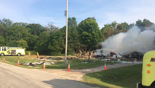 Emergency crews were on the scene of apparent home explosion in Oneida on Saturday.