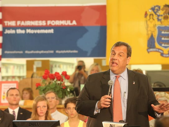 Gov. Chris Christie traveled to Wall Township June
