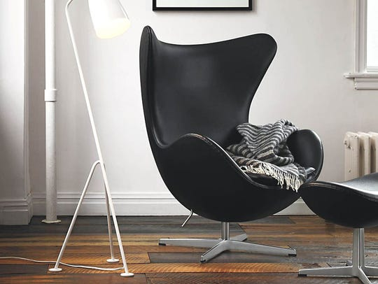 The Egg Chair, introduced in 1958, is a famous design
