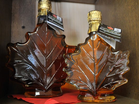 Maple syrup comes in bottles of many shapes.