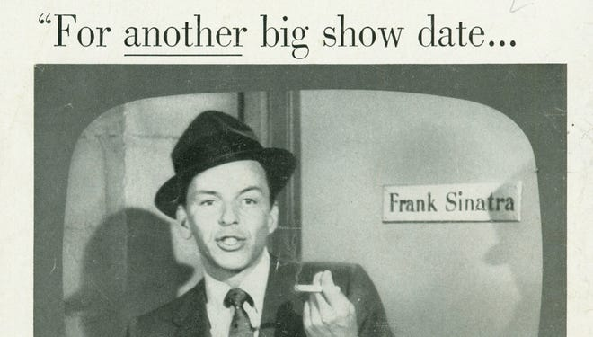 An ad for Chesterfield cigarettes featuring Frank Sinatra