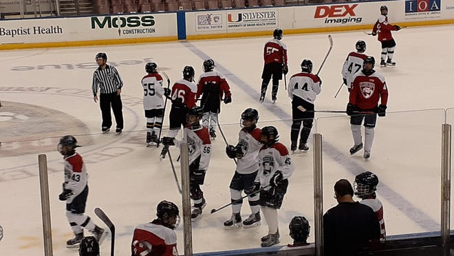 Players compete during last December's FPSHL All-Star Game at the BB&T Center in Sunrise. Youth hockey is among the sports shut down by the coronavirus.