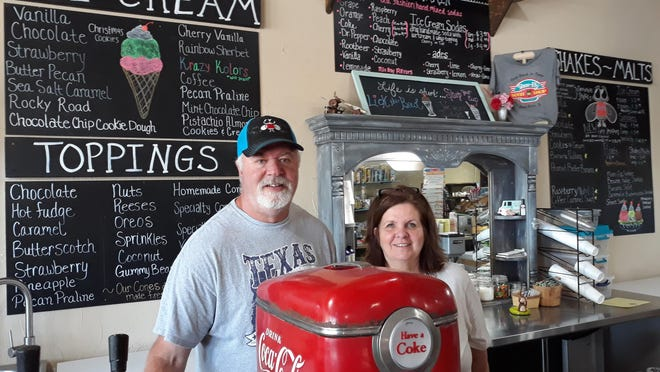 Jerry and Tammie Stone, owners of Shoo-Fly Soda Shop in Glen Rose, are preparing to re-open their shop soon, after doing additional cleanup following a recent minor fire.