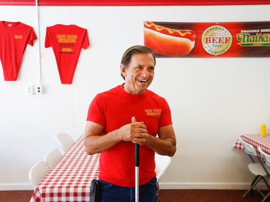 """Of the casino that has been proposed for Boone County, Charlie Smith says, """"If you don't like it, don't go."""" Smith owns the Hot Dog Shoppe in downtown Harrison, Arkansas."""