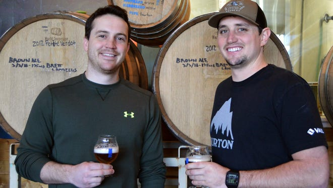 Andrew Harton, Big Oyster Brewery headbrewer and Red Killpak, brewer, plan to open a new location in Lewes this summer.