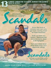 "Chris Christie's ""Scandals"" is featured in Mad Magazine's ""20 Dumbest People, Events and Things of 2017"" issue."