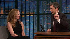 Seth Meyers and Leslie Mann