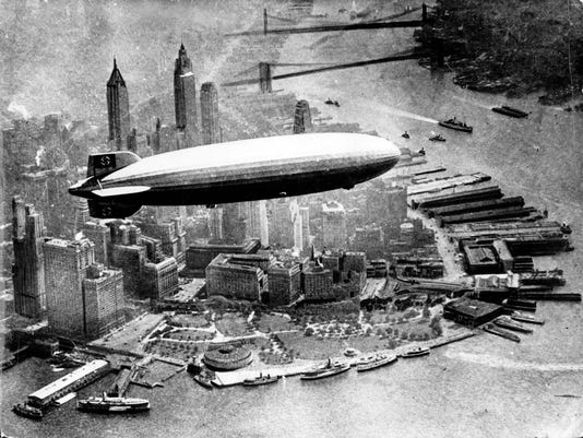 HINDENBURG OVER MANHATTAN
