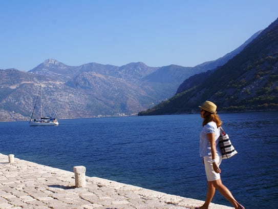 Many visitors arrive in Montenegro by sailing in on