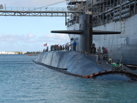 The Ohio-class guided-missile submarine USS Michigan