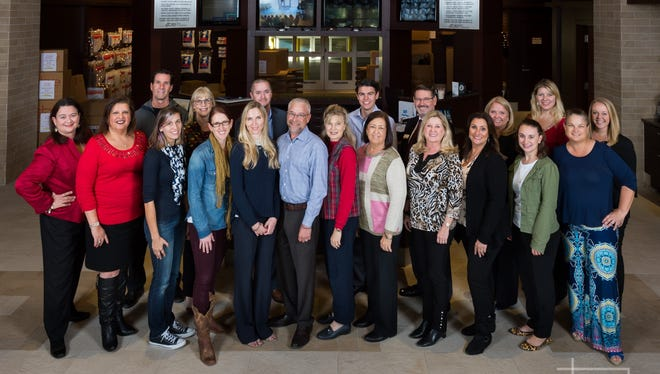 Pictured are members of the 2018 ArtiGras Steering Committee and Palm Beach North Chamber staff. They are (back row from left): Troy Holloway, Barbara Cottrell, Chad Stringfellow, Zachariah Merschdorf, Matt Wilson, Jill Mondo, Heather Storm and Erika Larson; (front row from left): Jeanne Ford, Cecilia del Agula, Chelsea Odum, Jennifer O'Brien, Ashley Morse, Stewart Auville; Alishia Parenteau, Karen Farruggia, Sherra Sewell, Tere Munoz, Gabrielle Vitucci and Rebecca Seelig.