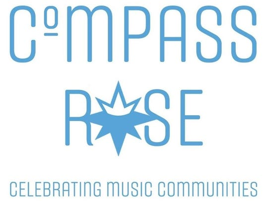 Detail from the logo of Compass Rose, which resembles