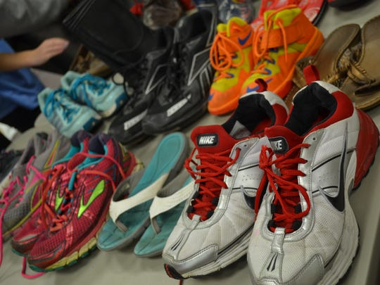 Students at Oak Harbor Middle School have already collected over 1,000 shoes and hope to obtain 25,000 by the end of the school year.