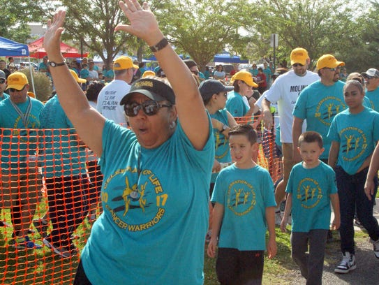 The mood was festive and energizing for those who walked