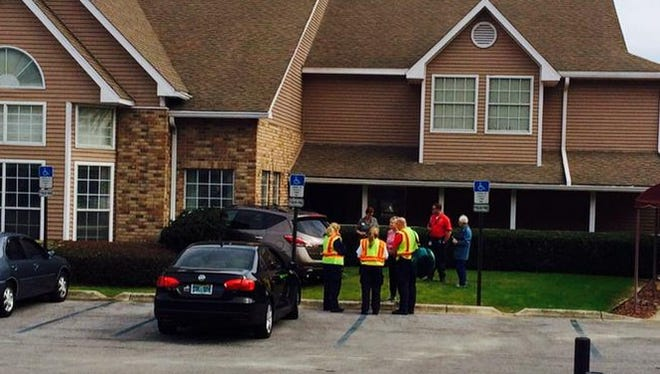 Escambia EMS and Pensacola Police are on the scene of a car versus building at Pacifica Senior Living Carpenter's Creek on North Davis Hwy.