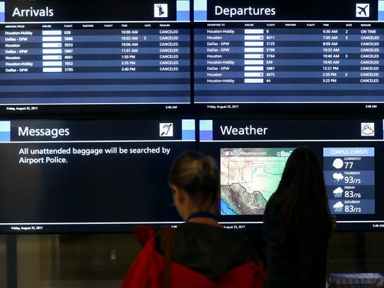 Airlines cancel flights as Hurricane Harvey approaches