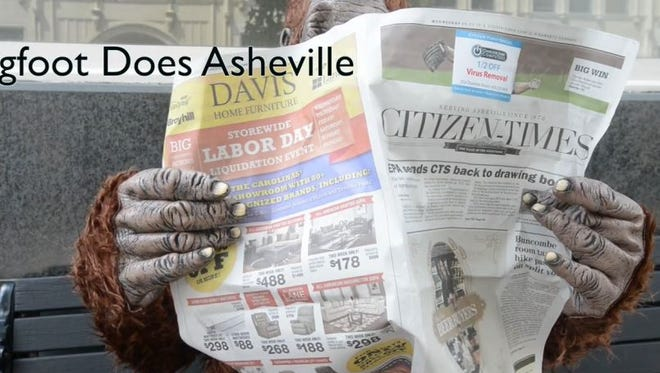 Bigfoot does Asheville.