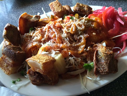 Chicharron con yucca from Rinconcito Catracho: The Latin Grill in Fort Myers.