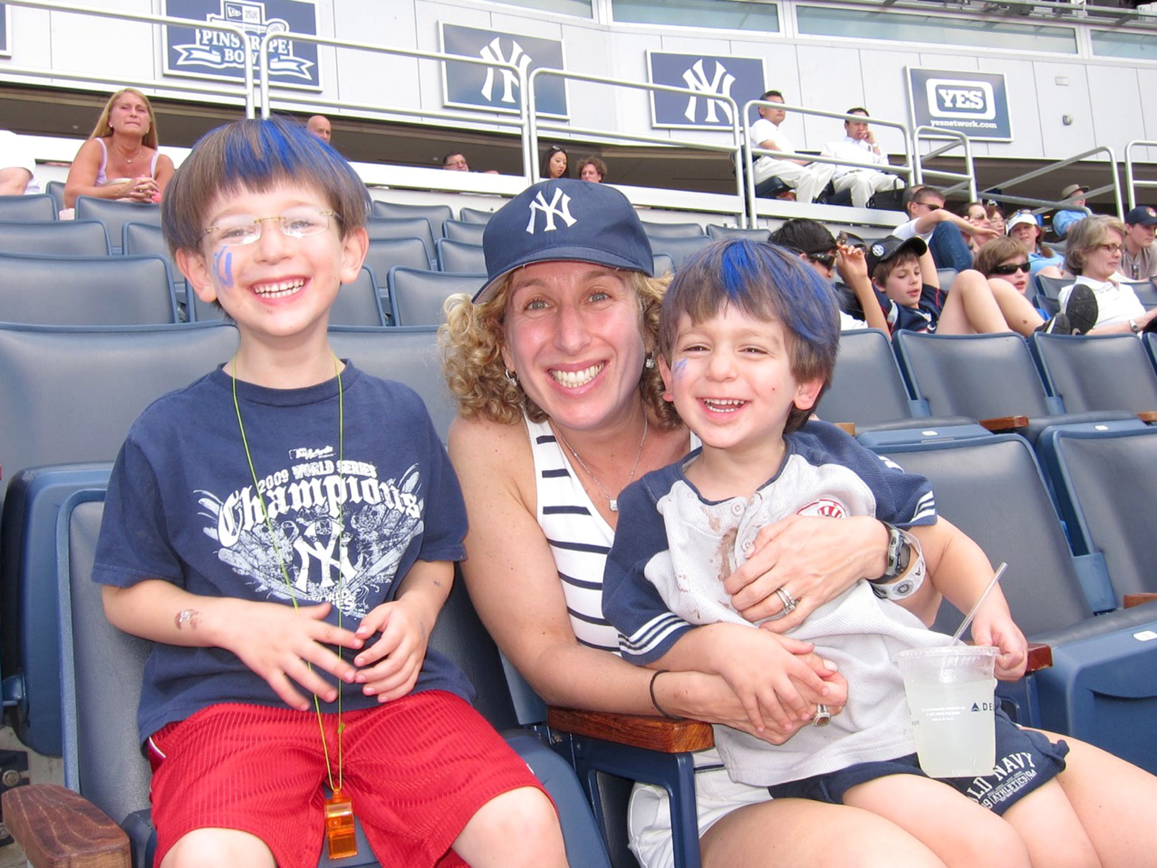At a Yankee's game.