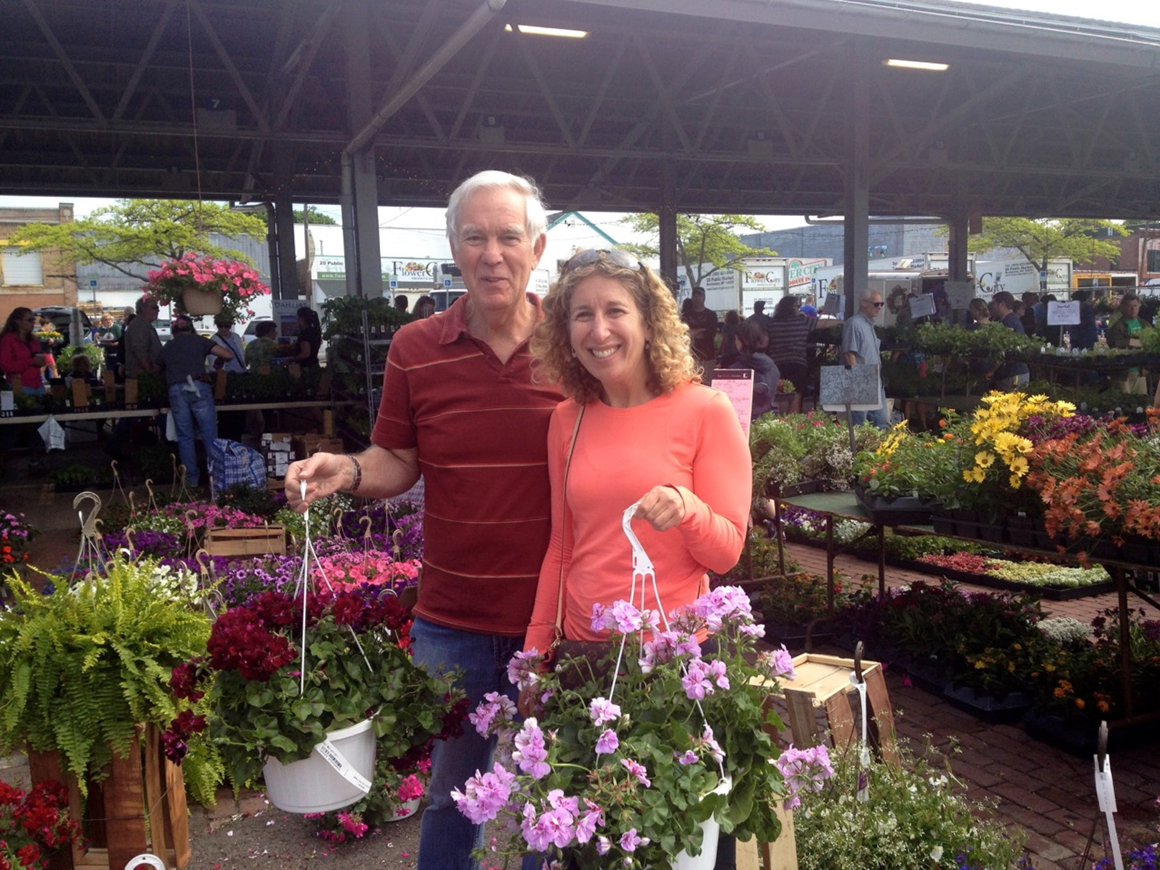 Her father helped her at the Rochester Public Market, where she didn't know a thing about houseplants.