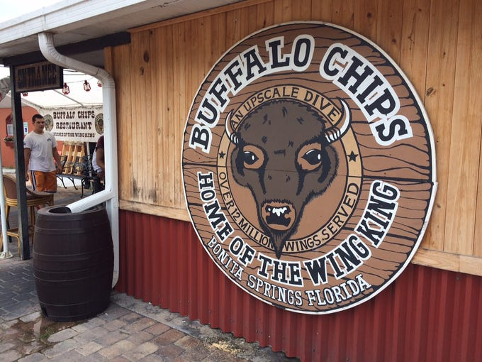 The rear entrance to Buffalo Chips, which opened in