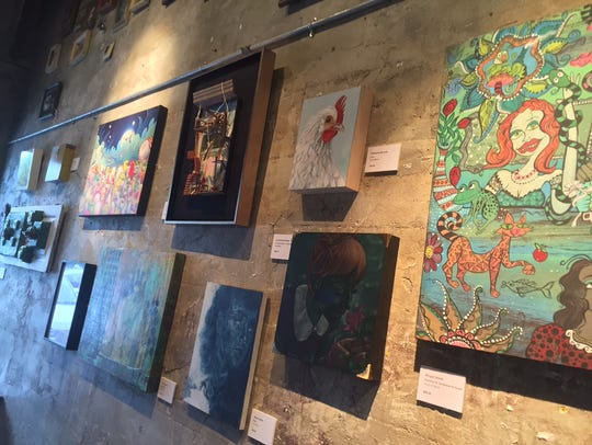Gallery room adorned with works from some of Stardust's