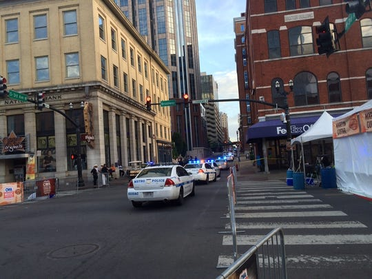 One man was injured in a shooting incident early Saturday in downtown Nashville.