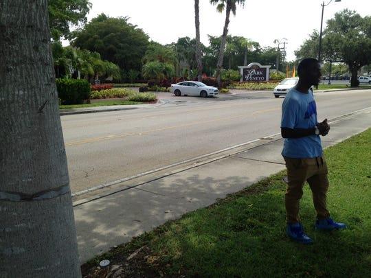 Malik Carter-Thompson, a neighbor of a man taken into
