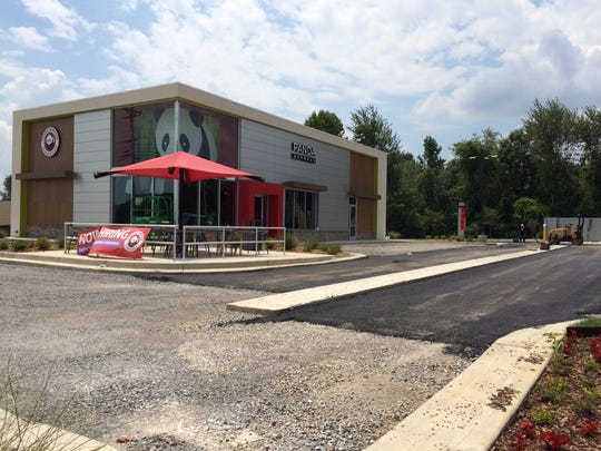 The Panda Express parking lot is paved Tuesday afternoon. The expected opening date is Aug. 1.