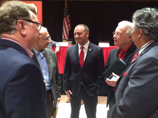 Jim Harris is introduced last August as the new executive director of the Ragin' Cajuns Athletic Foundation.