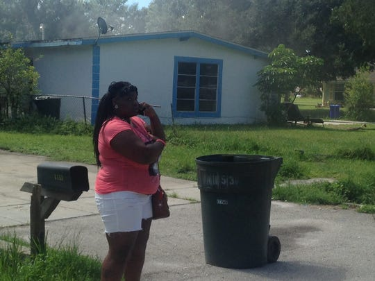 A fire broke out in the bedroom of a home at Sumter Drive in Fort Myers Monday morning.