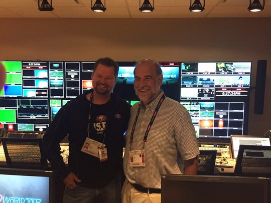 Aron Kennedy and John Paul, behind the scenes at Levi's