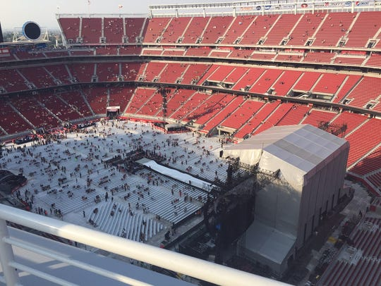 Rooftop view from Levi's Stadium.