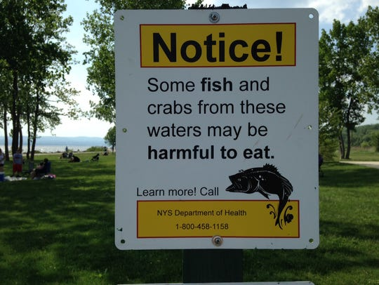 Signs at Croton Landing advise to limit consumption