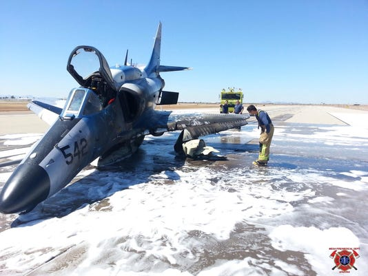 Mesa airport fighter jet crash
