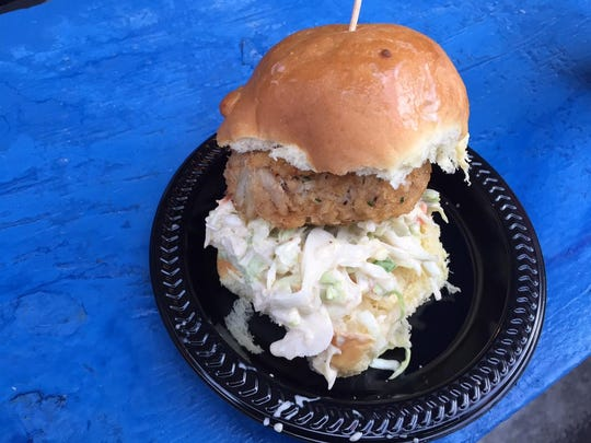 Crab Cake Slider from McCormick and Schmick's.