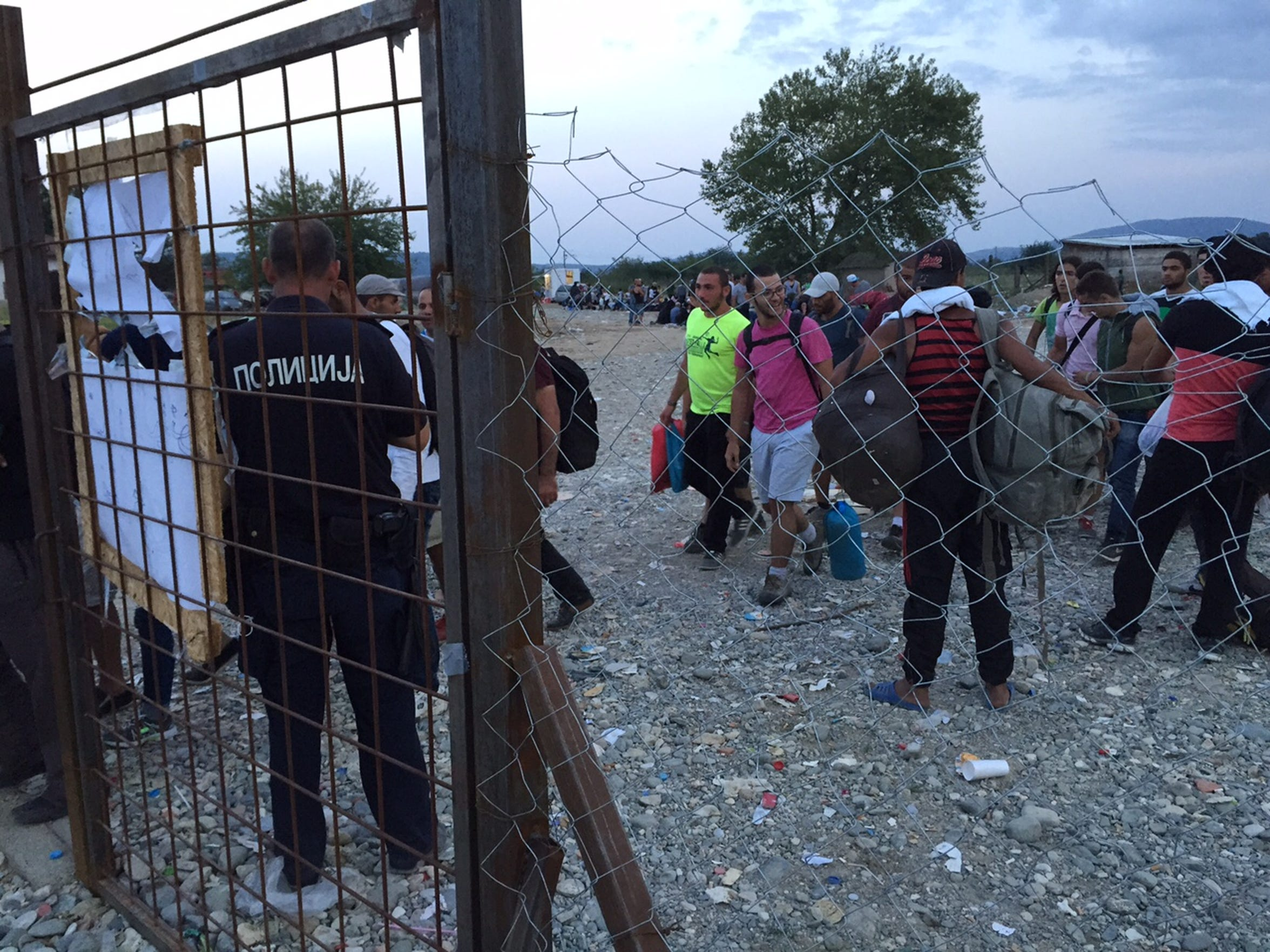 A migrant camp in Gevgelija, Macedonia, on Sept. 20, 2015.