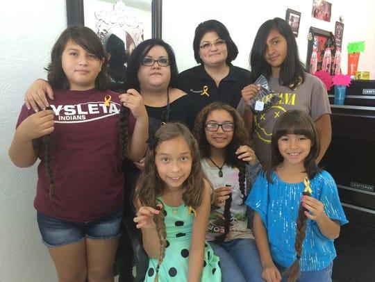 Xitlali Ramirez, from top row left, Cindy Granado,